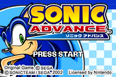 Sonic Advance [Model AGB-ASOP-EUR] screenshot