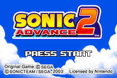 Sonic Advance 2 [Model AGB-A2NP] screenshot