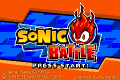 Sonic Battle [Model AGB-BSBE-USA] screenshot
