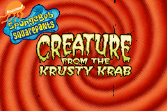 SpongeBob SquarePants - Creature from the Krusty Krab [Model AGB-BO4E-USA] screenshot