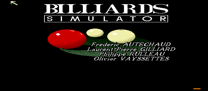 Billiards Simulator screenshot