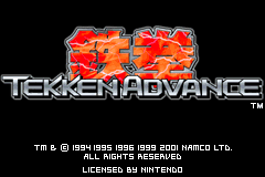 Tekken Advance [Model AGB-ATKE-USA] screenshot