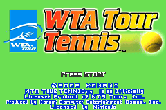 WTA Tour Tennis [Model AGB-ATEE-USA] screenshot