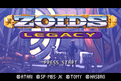 Zoids Legacy [Model AGB-AZ2E-USA] screenshot