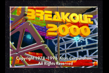 Breakout 2000 [Model J9093E] screenshot