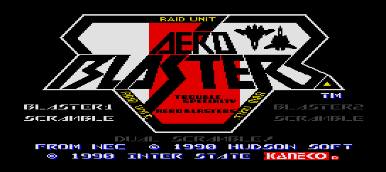 Aero Blasters [Model TGX040051] screenshot