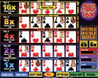 Multi-Strike Poker Deluxe screenshot