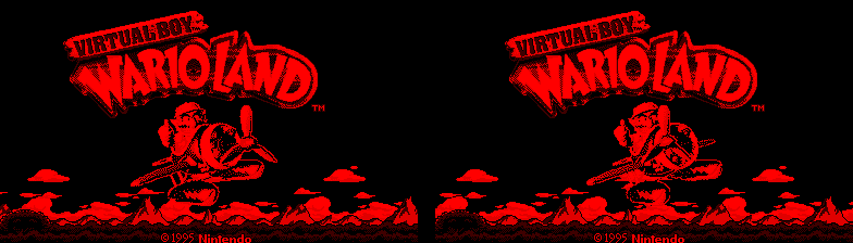 Virtual Boy Wario Land - Awazon no Hihou [Model VUE-VWCJ-JPN] screenshot