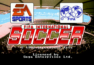 FIFA International Soccer [Model 7255] screenshot