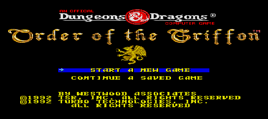 Dungeons & Dragons - Order of the Griffon [Model TGX040072] screenshot