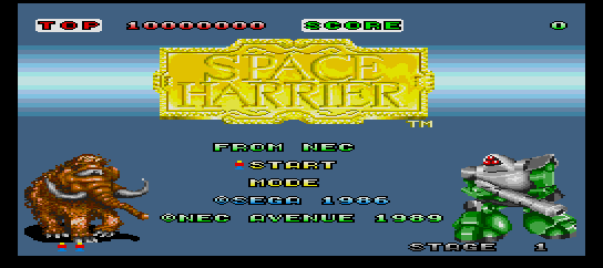 Space Harrier [Model TGX040025] screenshot