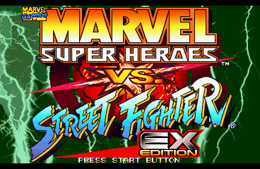 Marvel Super Heroes vs. Street Fighter EX Edition [Model SLPS-01915] screenshot