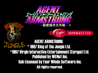 Agent Armstrong [Model SLPM-01073] screenshot