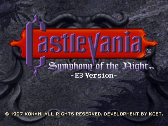 Castlevania - Symphony of the Night [Demo] screenshot