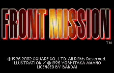 Front Mission [Model SWJ-SQRC10] screenshot