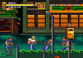 Streets of Rage II [Model 1054-50] screenshot