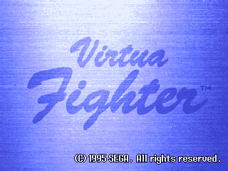 Virtua Fighter [Model MK84701-50] screenshot
