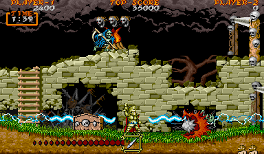 Ghouls'n Ghosts [B-Board 88620B-2] screenshot