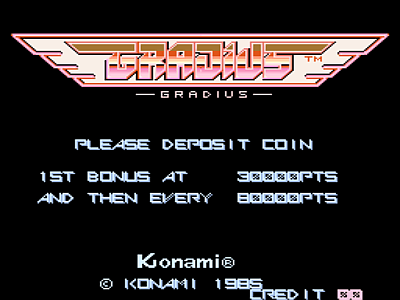Gradius [Model GX400] screenshot