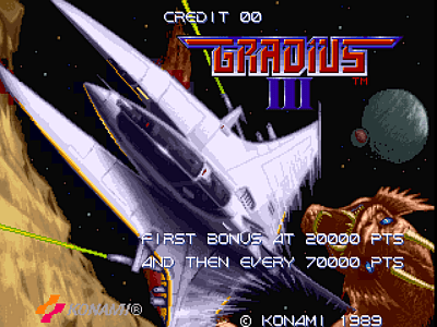 Gradius III [Model GX945] screenshot